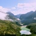 valle del Vajont con il Lago residuo