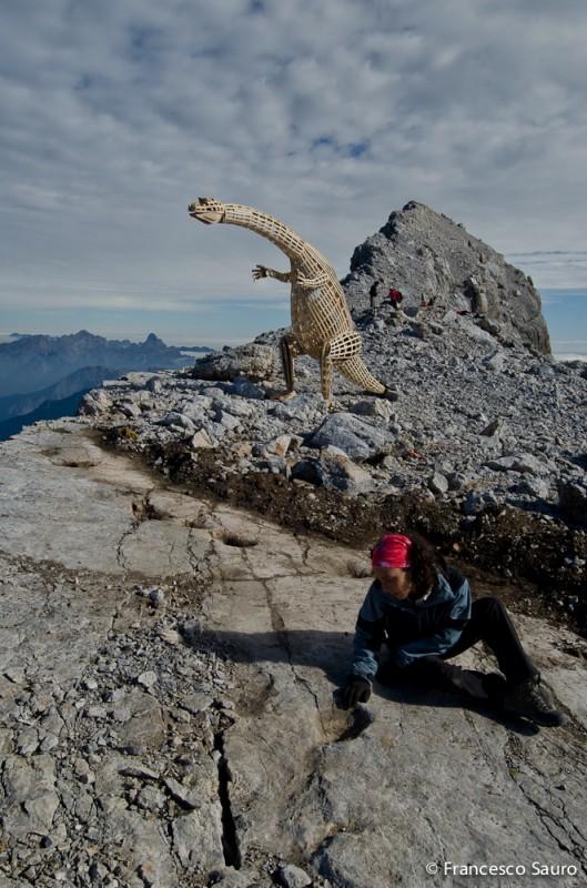 foto: francesco sauro (membro del gruppo che scoprirono le orme della parte sommitale del Pelmo)